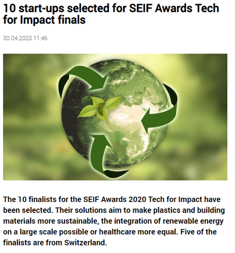 10 start-ups selected for SEIF Awards Tech for Impact finals