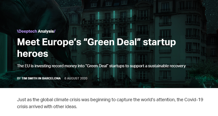 Meet Europe's «Green Deal» startup heroes