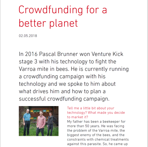 Crowdfunding for a better planet